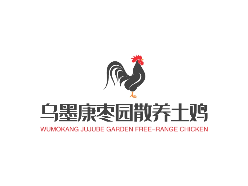 乌墨康枣园散养土鸡LOGO设计