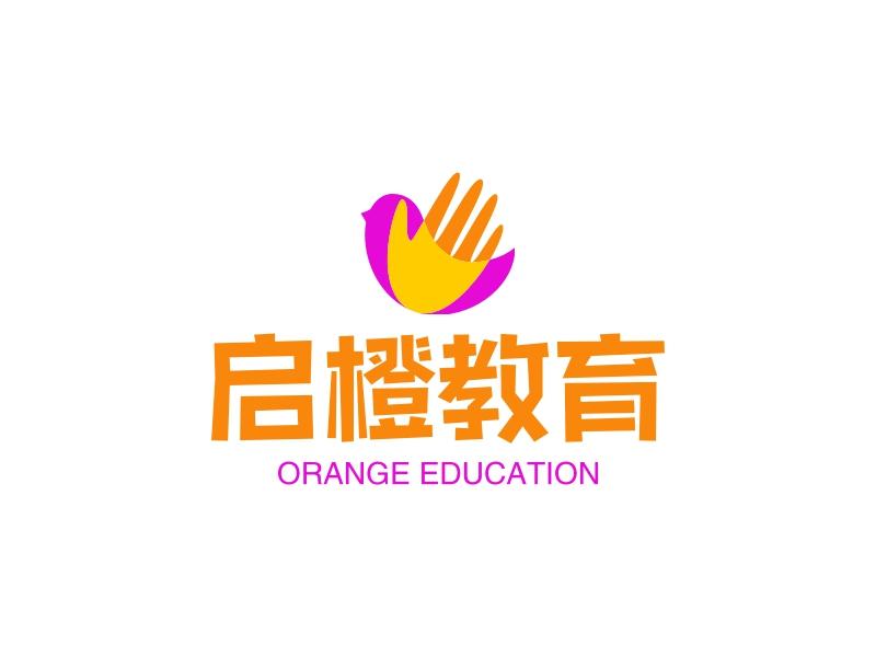 启橙教育LOGO设计