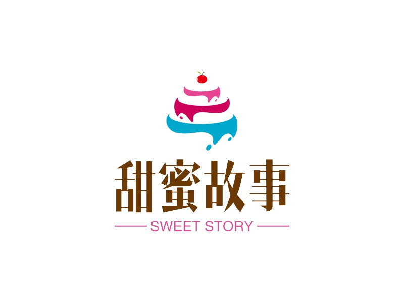 甜蜜故事LOGO设计