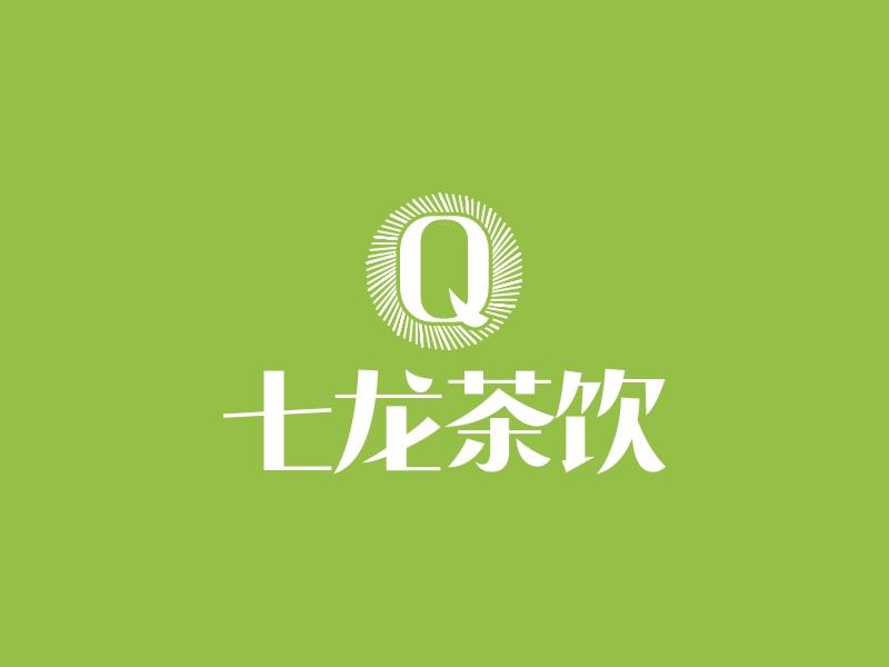 七龙茶饮LOGO设计
