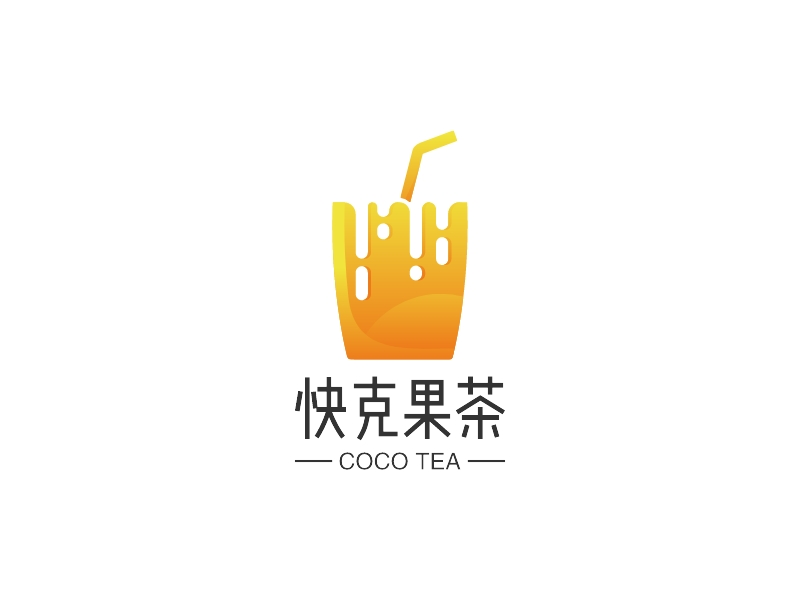 快克果茶LOGO设计