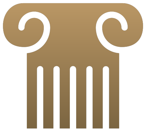古希腊建筑标志素材矢量logo