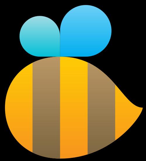 可爱蜜蜂矢量标志素材矢量logo