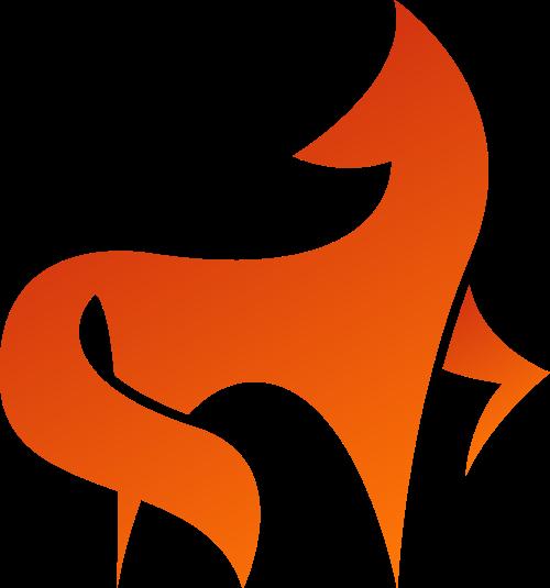 渐变狐狸动物矢量商标素材矢量logo