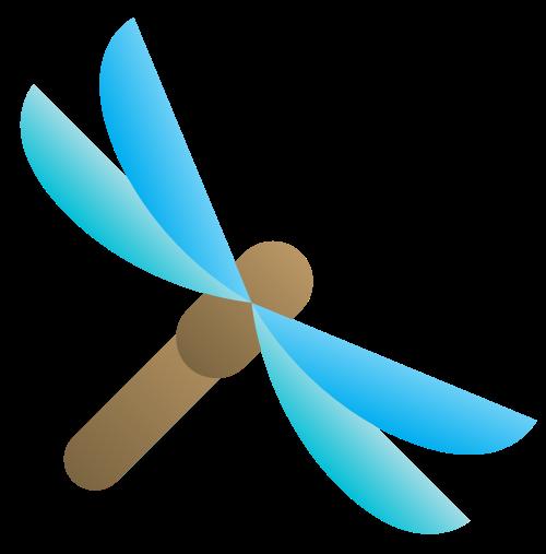 蜻蜓元素矢量logo素材