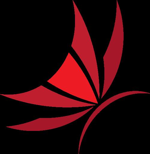 红色蝴蝶矢量logo素材矢量logo