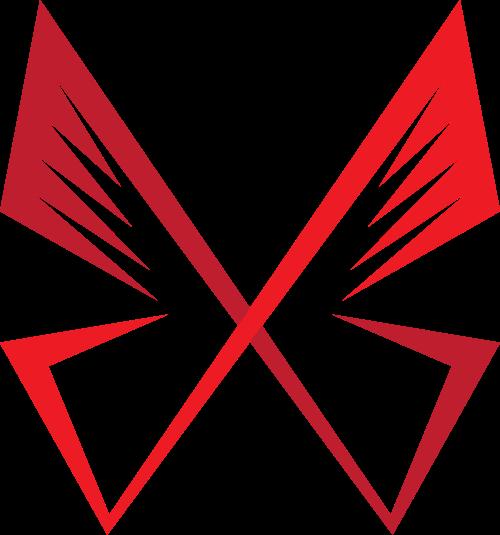 渐变蝴蝶矢量标志素材矢量logo