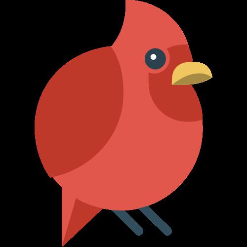 红色小鸟矢量图标志素材矢量logo