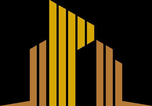 金色楼房建筑房产公司矢量标志素材矢量logo