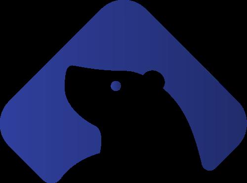 蓝色渐变熊动物矢量商标素材矢量logo