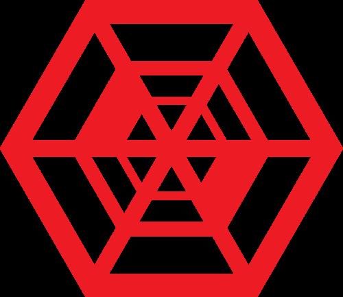 蜘蛛网六边形矢量图商标素材矢量logo