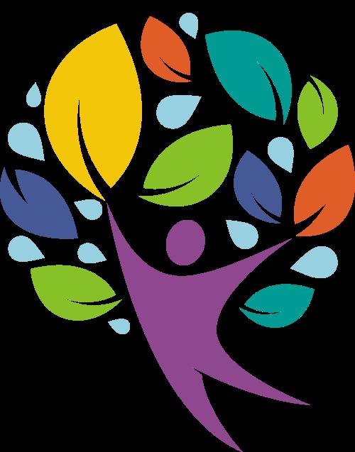 人物树叶矢量图标志素材矢量logo