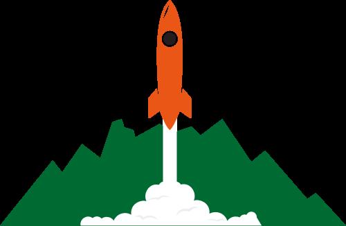 山脉火箭发射矢量图logo元素矢量logo