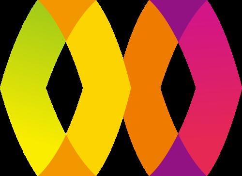 双菱形彩色矢量图标志素材矢量logo