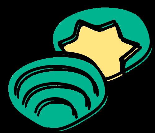 贝壳海鲜矢量图标志素材矢量logo