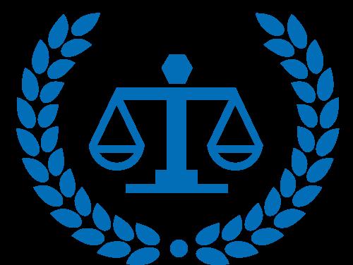 天平秤麦穗法律矢量图标志素材