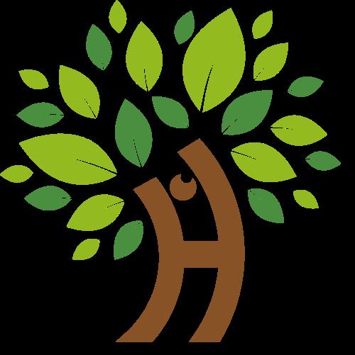 人物树叶小树矢量图logo素材矢量logo