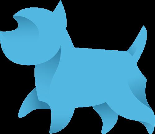 宠物狗矢量图商标素材矢量logo