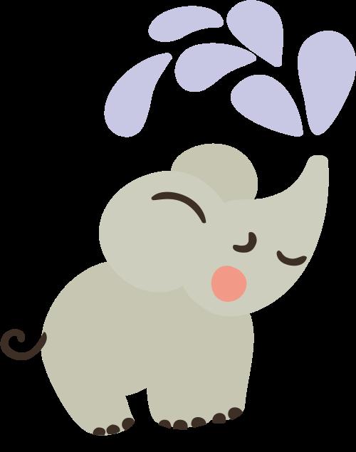 洒水小象矢量图logo素材矢量logo