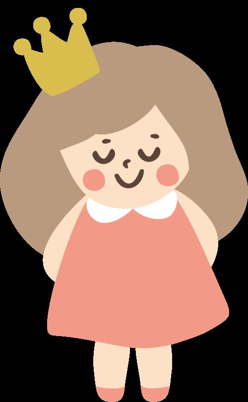 皇冠小女孩矢量图logo设计矢量logo
