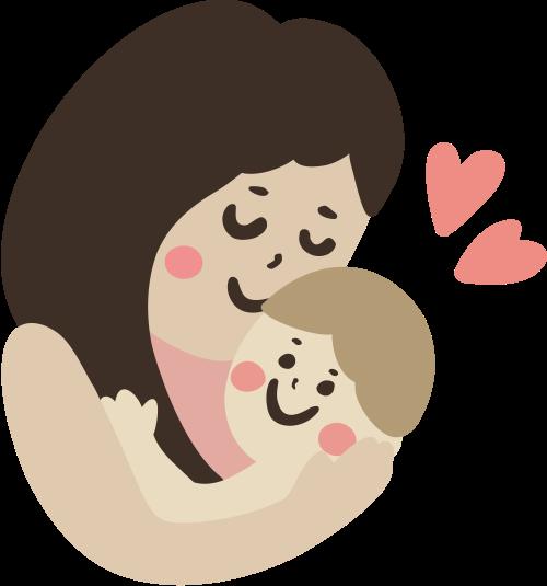 母婴爱心矢量图logo素材