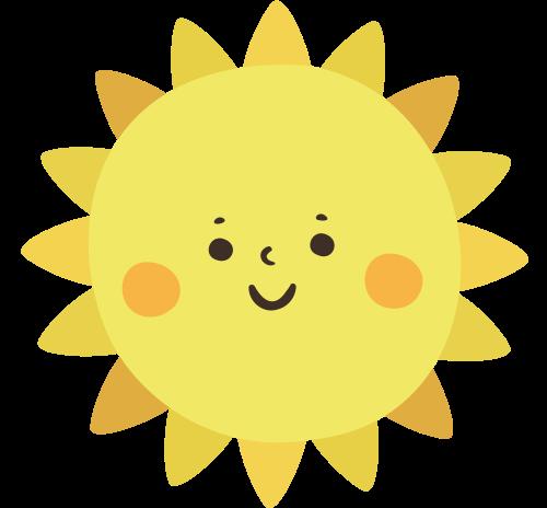 卡通太阳笑脸矢量图商标素材矢量logo