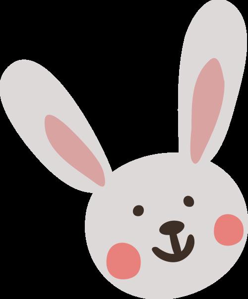 小兔子矢量图商标素材矢量logo