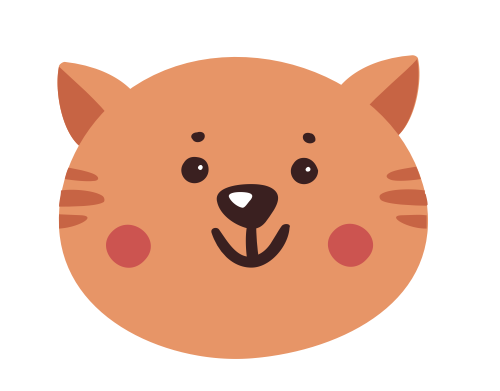 卡通小猫动物矢量图标志素材矢量logo