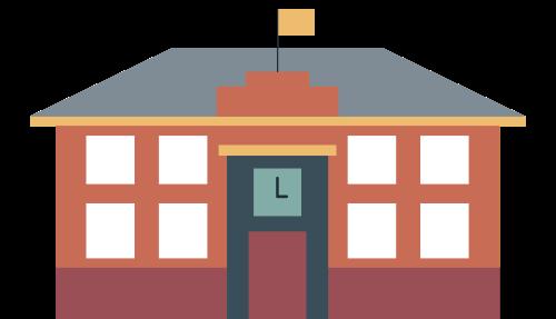 教室课堂学校建筑矢量图标志素材矢量logo