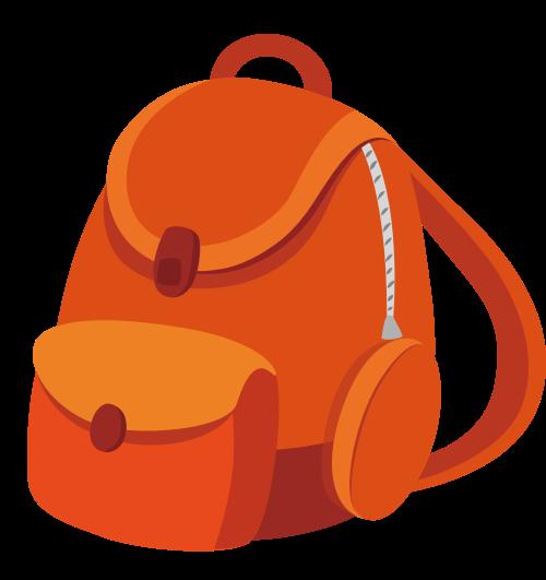 书包双肩包矢量图标志素材矢量logo