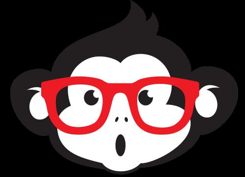 戴眼镜的猴子矢量图商标素材矢量logo