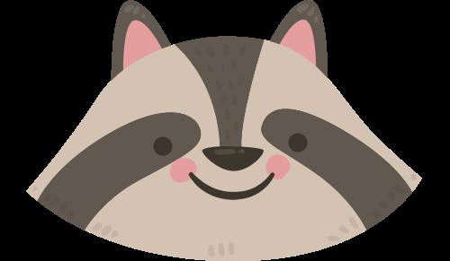小浣熊矢量图标志素材矢量logo