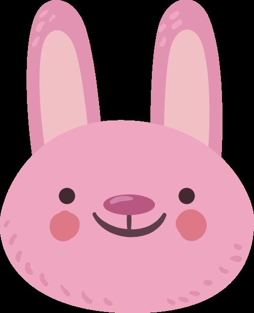 粉色兔子矢量图商标素材矢量logo