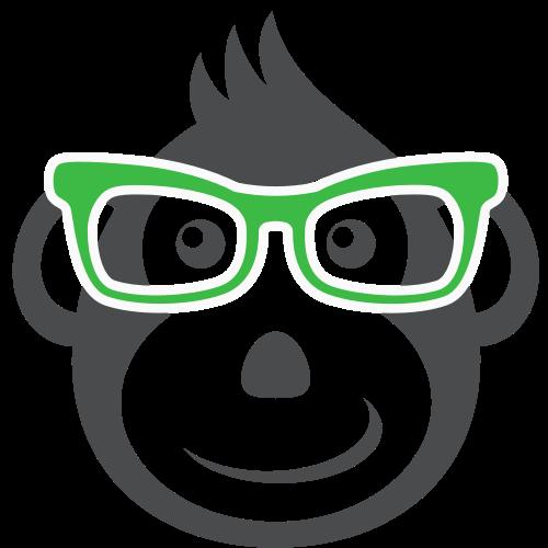 戴眼镜的猴子矢量图标志素材矢量logo