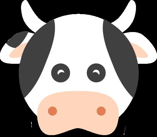 奶牛矢量图商标素材