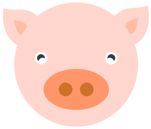 小猪矢量图商标素材矢量logo