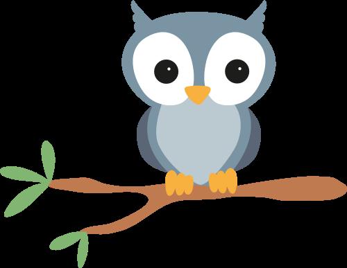 树枝猫头鹰矢量图logo素材