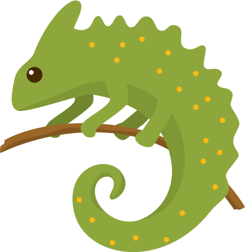 蜥蜴变色龙矢量图商标素材矢量logo