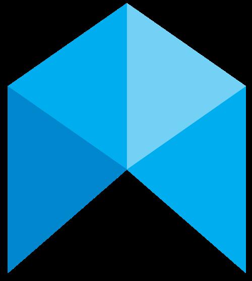 蓝色抽象箭头矢量logo图标矢量logo