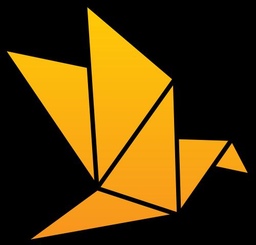 折纸小鸟矢量图标矢量logo