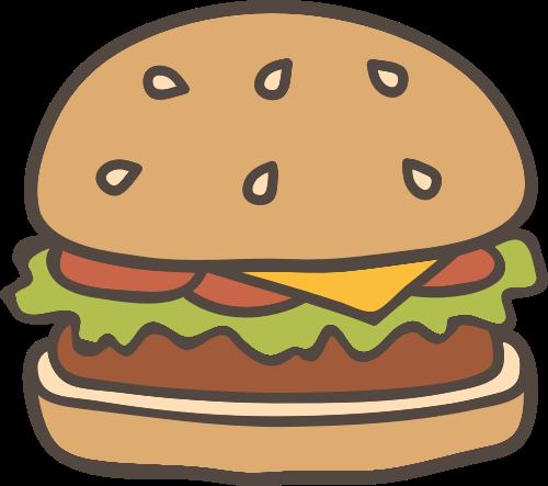 汉堡快餐矢量图logo素材