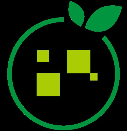 绿色数字橙子矢量logo图片矢量logo