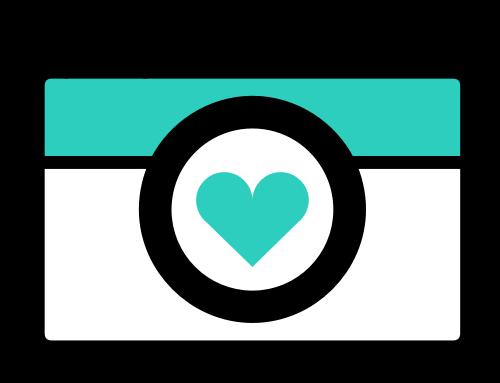 爱心相机矢量图标志素材矢量logo