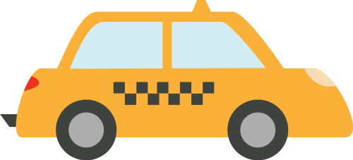 出租车矢量图标志素材矢量logo
