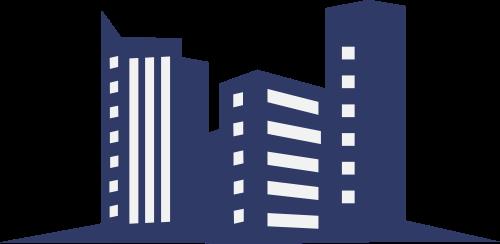 楼房建筑矢量图商标素材矢量logo