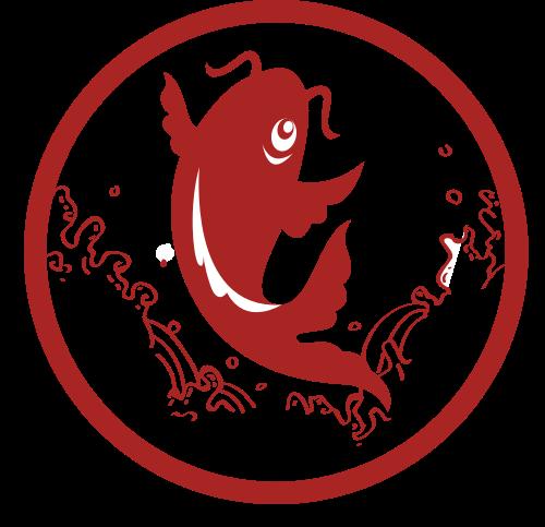 锦鲤剪纸矢量图logo素材矢量logo