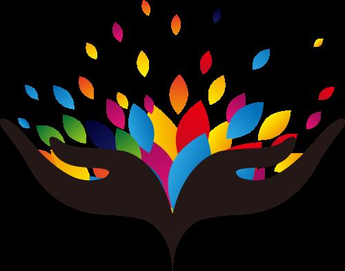 双手花瓣矢量图logo素材矢量logo