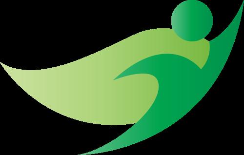 绿色超人矢量图商标素材矢量logo