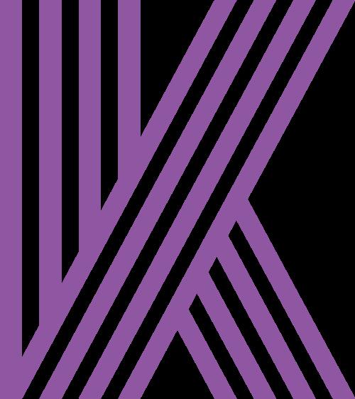 条纹字母K矢量图logo素材矢量logo