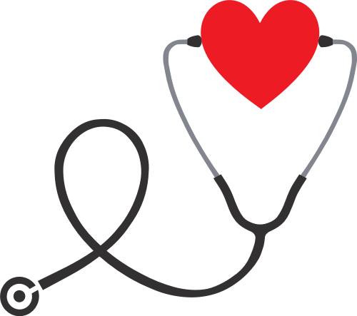 爱心医院听诊器矢量图logo素材矢量logo